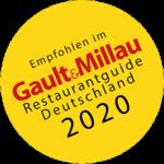 Logo: Empfohlen im Gault+Millau 2020.