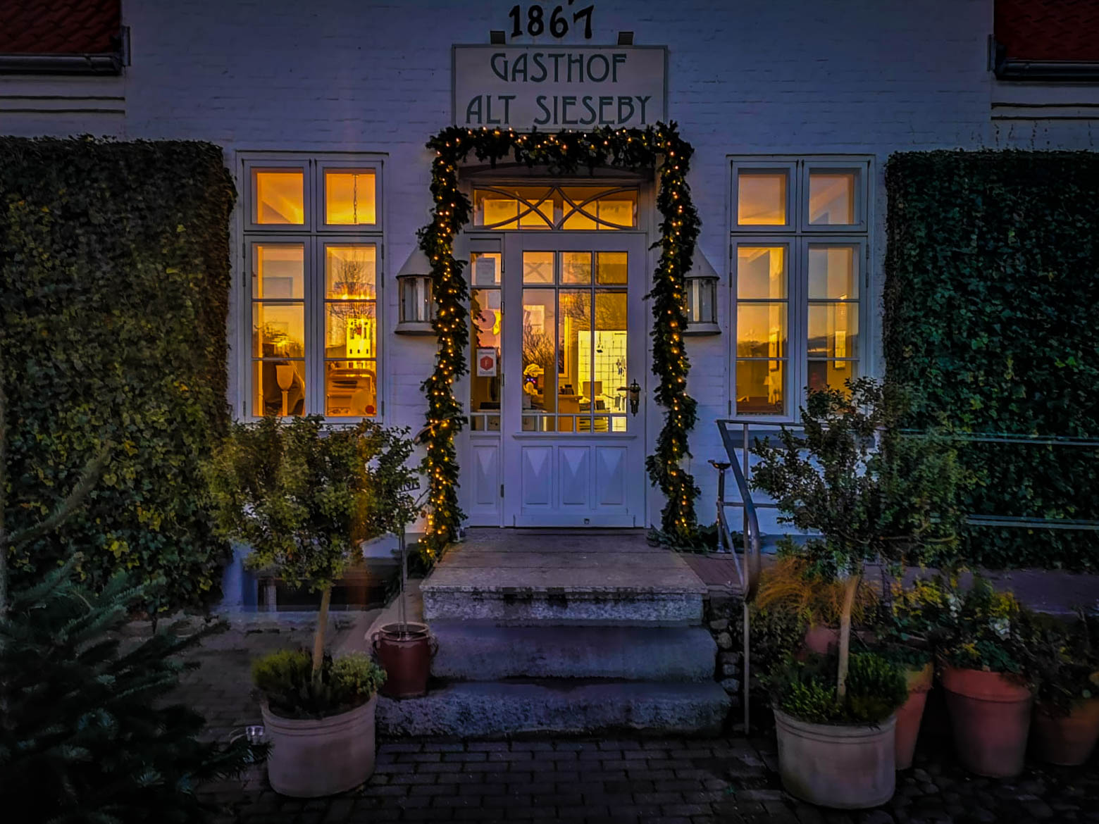 Gasthof Alt Sieseby zur Weihnachtszeit