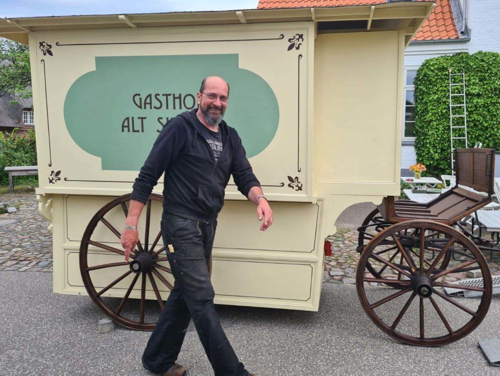 Die Kutsche vom Gasthof Alt Sieseby ist zurück von der Restauration
