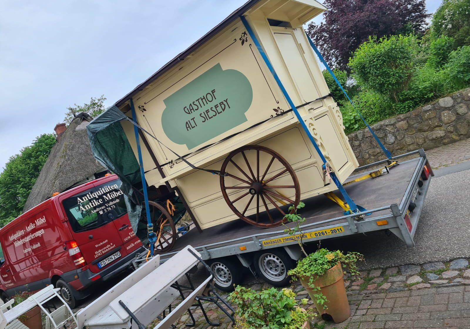 Die Kutsche vom Gasthof Alt Sieseby